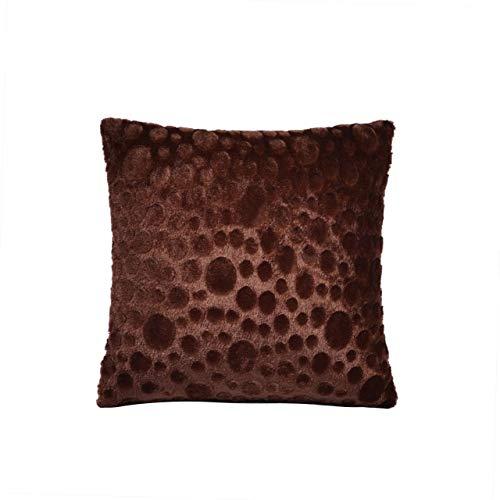 RAQ 43 x 43 cm zacht pluche kussen wasbaar knuffelkussen warm kussen kort pluche voor bureaustoelen sofa 43X43cm 04
