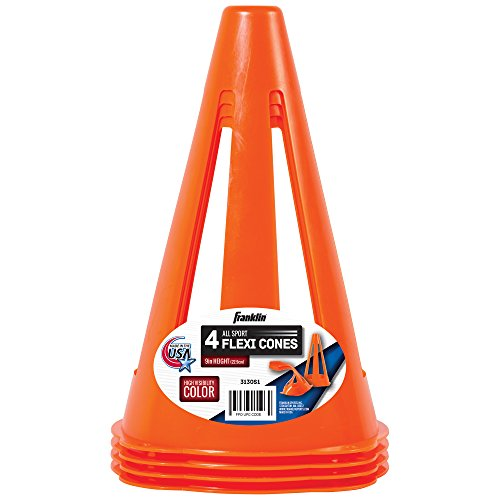 Franklin Sports 9 Inches Flexible Soccer Cones, 4 Pack