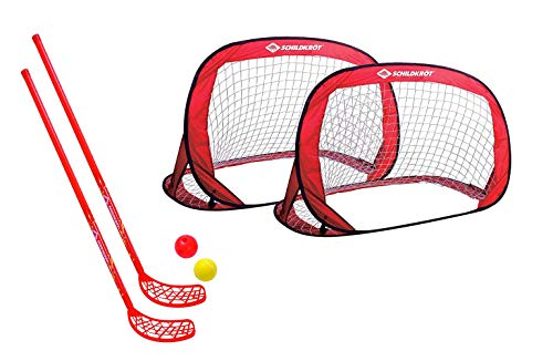 Schildkröt Fun-Hockey Set, 2 Hockey Schläger, 2 Bälle Ø70mm (1 Fun-Hockey Set + 2 Pop-Up Tore)