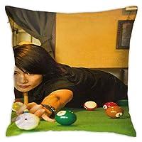 2021枕カバー(45cmx45cm)三浦春馬(みうらはるま Miura Haruma)ファッションと絶妙な両面印刷カスタマイズされたリビングルームとベッドルームスクエア枕カバークッションカバー