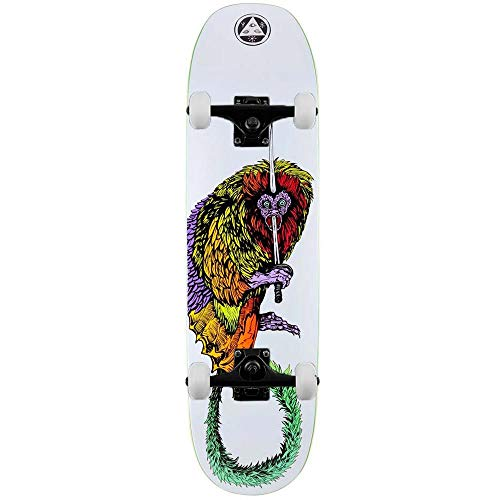 Welcome Tamarin - Skateboard completo Moontrimmer 2.0, colore: Bianco