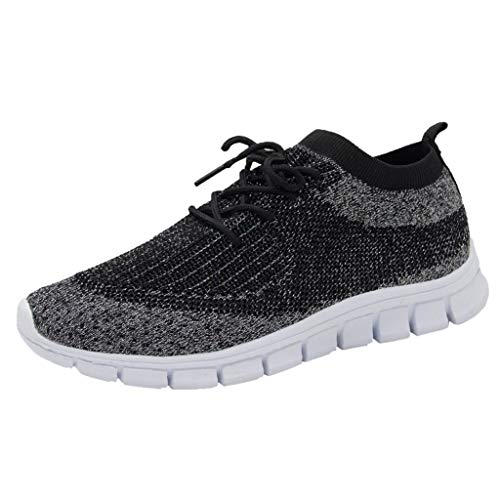 Zapatillas de Deporte Mujer Hombre Running Zapatos para Correr Gimnasio Sneakers Deportivas Padel Transpirables Casual Montaña Negro Gris Blanco 35-43EU 0206