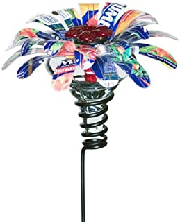 Parasol SSMBCL1 4 by 4 by 24-Inch Sugar Shack Mini Blossom Flower Stake Hummingbird Feeder, Clear