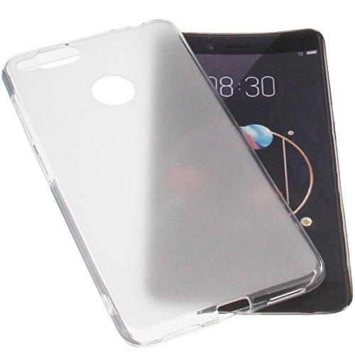foto-kontor Tasche für Archos Diamond Alpha Gummi TPU Schutz Handytasche transparent weiß