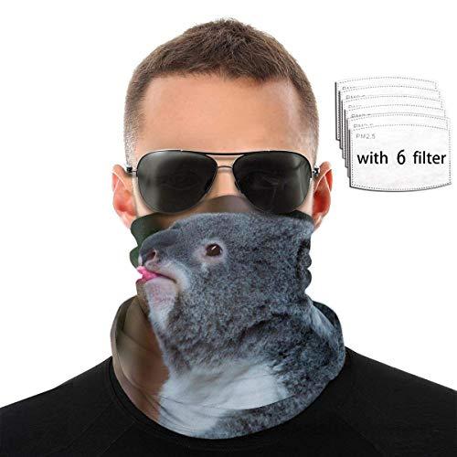 OMarcus Máscara de pañuelo Facial, Bufanda mágica, máscara de Tubo, pasamontañas, máscara de Pesca Unisex, Polaina de Cuello con 6 filtros
