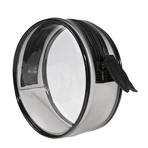 Linwei Waterproof PVC Transparent Makeup Bag Travel Zipper Organizer Cosmetic Bag Travel Clear Make Up Bags for Women,M