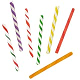 """Candy Cane Sticks Suckers, Old-Fashioned Multicolored Peppermint Flavor, Individually Wrapped, 5.5"""" Inch, Net WT 30.53 oz (864g), 72-Pack - 0.42oz (12g) Pieces (Variety Pack)"""