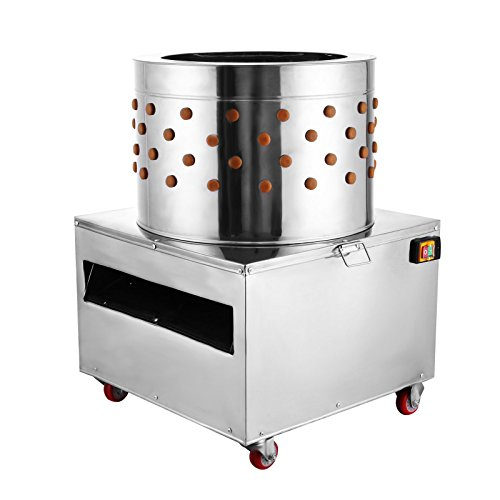 VEVOR Stainless Steel Chicken Plucker Turkey Poultry Defeather Plucking Machine 23.5Inch, 2200W 240R/Min