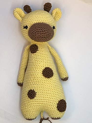 Peluche girafe 25cm crochet en coton pour enfant