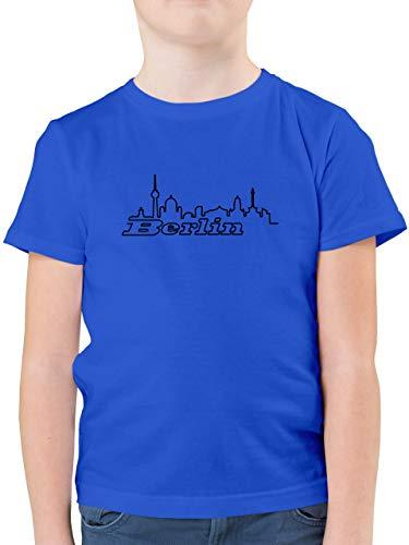Städte & Länder Kind - Berlin Skyline - 128 (7/8 Jahre) - Royalblau - Berlin Shirt Kinder - F130K - Kinder Tshirts und T-Shirt für Jungen