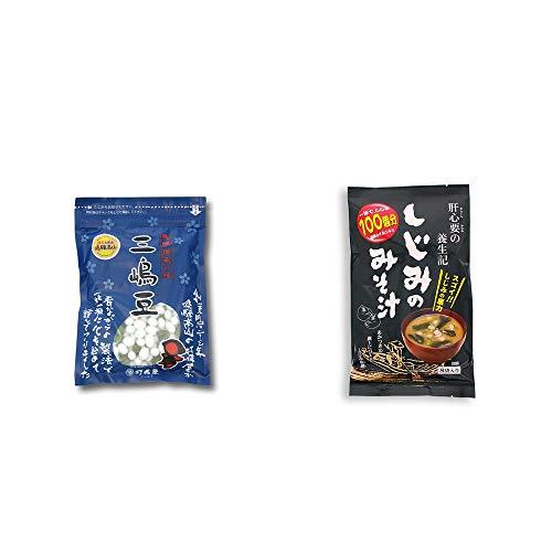 [2点セット] 飛騨 打保屋 駄菓子 三嶋豆(150g)・肝心要の養生記 しじみのみそ汁(56g(7g×8袋))