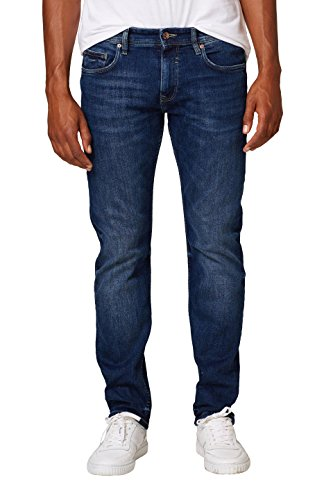 ESPRIT Herren 998EE2B808 Straight Jeans, Blau (Blue Medium Wash 902), W33/L32