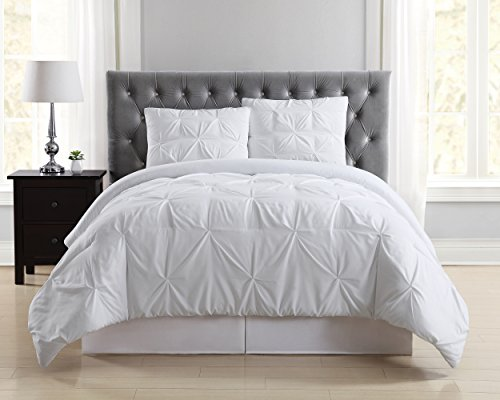 Truly Soft Everyday Pleated Comforter Set, Full/Queen, White