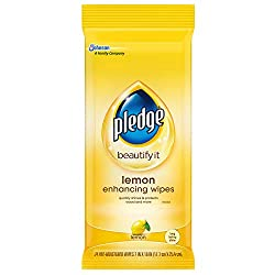 Pledge Lemon Enhancing Wipes 24 ct
