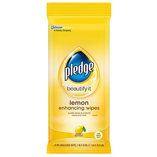 Our #2 Pick is the Pledge Multi-Surface Furniture Polish Wood Cleaning Wipes