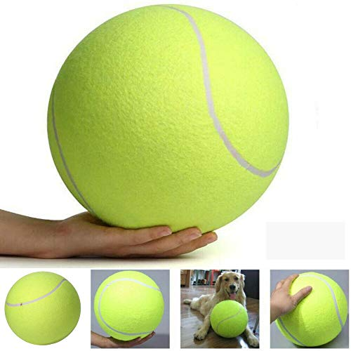 AILOVA Pelotas De Tenis para Perros 24cm Pelota De Tenis Gigante para Masticar Mascotas Pelota De Tenis Inflable para Mascotas