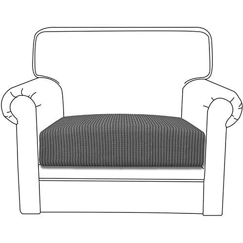 Silingsan Sofa Überwürfe Sofabezug Jacquard Elastische Spandex Couchbezug für Sofa rutschfest Möbelschutz(1 Sitzer, Hellgrau)