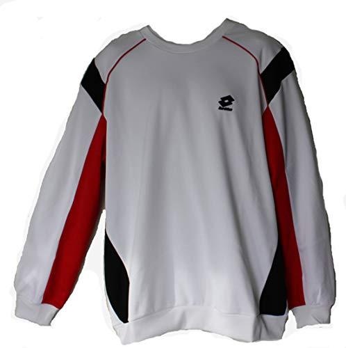 Lotto Race Sweat-shirt pour homme Blanc/noir Taille XXL