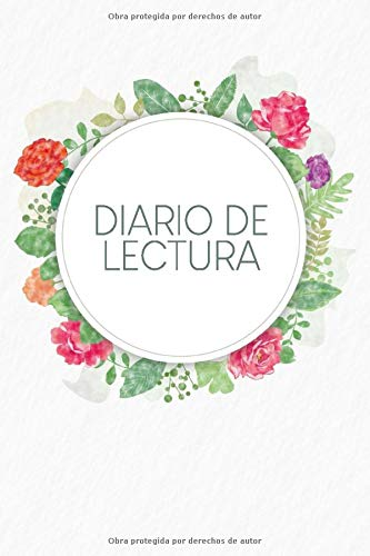 Diario de Lectura: Book Journal a completar | para todos los amantes de los gusanos de libros y de la literatura | Motivo: Flores de acuarela