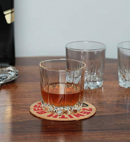 Pasabahce Karat Whisky Glass Set, 300ml, Set of 6, Clear