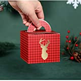 XPFF 5Pcs Weihnachtsgeschenkkästen, Papier Weihnachten DIY Geschenk-Kuchen-Box Dekorative Treats Box Dessert Keks Verpackung Festival-Feiertag Weihnachtsabend Geschenk for Kinder (Color :...