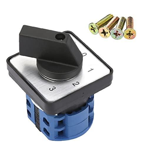 Conmutador 4 del interruptor de posición 2 Pole 660V 20A universal Rotary Selector Cam, Switch