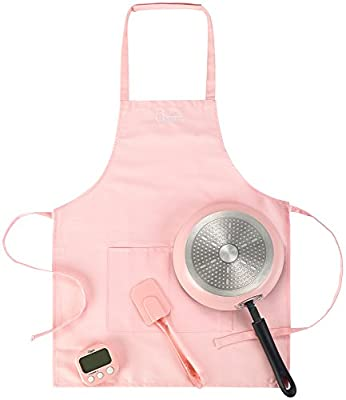 Pink and Blue Apron and Cooking Set for Boys and Girls