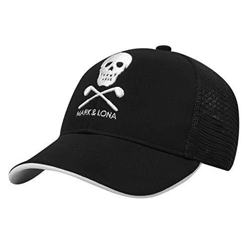 Gorra de golf unisex de marca y lona, sombrero de golf en blanco y negro bordado PG, gorra de golf de ala ancha (color : C, tamaño: ajustable)
