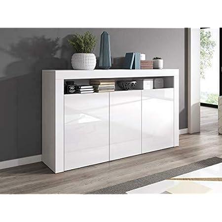 e-Com Luna - Commode - Blanc - 155cm