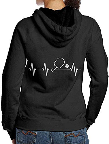 LMNcrop Pickleball Paddle And Ball Heartbeat Adult Womens Cool Hoodie Sweatshirt