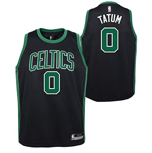 Outerstuff Jayson Tatum Boston Celtics #0 Youth Statement Swingman Black Jersey (14-16)