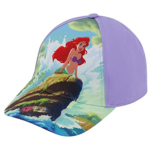 Disney Toddler Baseball Hat for Girl's Ages, Princess Kids Cap, Baby Sunhat, Purple, 4-7 Years