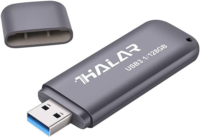 THKAILAR USB 3.1 Flash Drive 128GB USB Thumb Drive Fast Speed Delivers Read Speed Up to 210MB/s for External Data Storage High Speed Data Transfer(Black)