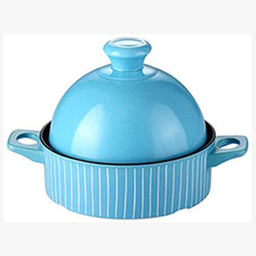 GYCS Slow Cooker 22cmKochtopf Bleifreies Kochen Keramikauflauf Slow Cooker Hochtemperatur-Kochtopf Verbrühungsfreier Doppelohrgriff Leicht zu reinigen