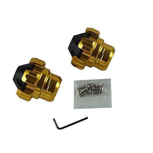 ZXLLNEUR Een paar CNC Aluminium voorvork Wiel Onderstel Sliders Motorbike Falling Protection Anti Crash Caps Scooter Bromfiets (Color : Gold)