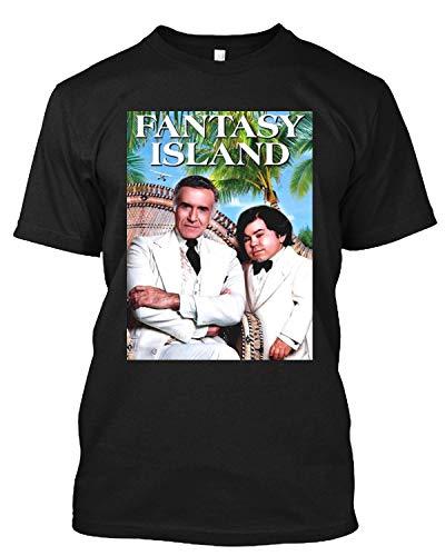 Fantasy Island TV-Serie Tattoo Mr. Roarke Lawrence Julie T-Shirt Geschenk Tee für Männer Frauen Gr. L, Schwarz