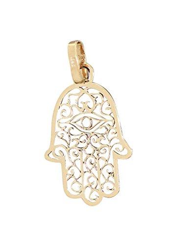 Hobra-Gold Hand der Fatima Anhänger Gold 585 Hamsa wahlw. in 2 Größen Kettenanhänger Gelbgold 14 Kt.