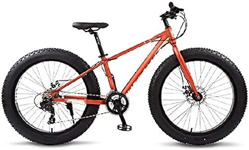 Bicicleta de montaña, bicicletas de carreteras Bicicletas de aluminio completo 26 neumáticos de nieve neumático de nieve 24 velocidades MTB de frenos de disco, para entorno urbano y desplazamientos de