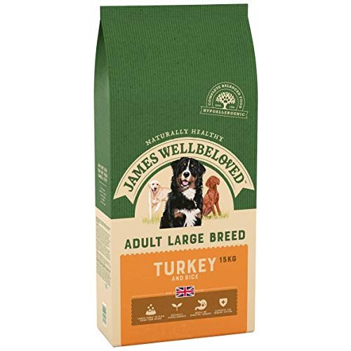 James Wellbeloved Dry Dog Food Adult Large Breed Complete Turkey And Rice 15kg