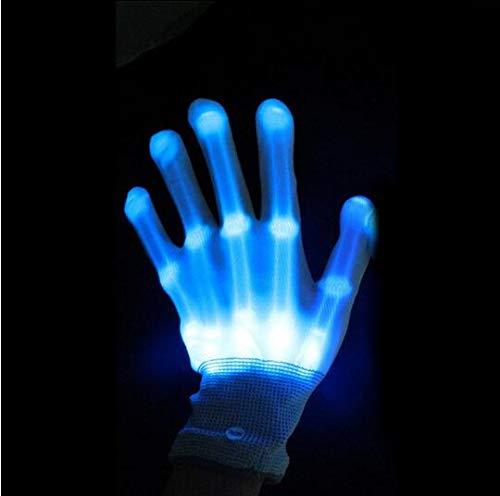 MEISHOU 1 unids LED Parpadeante Guantes Glow Party Light Up Finger Lighting Danza Decoración Glow Party Supplies Coreografía Props Navidad,Blue
