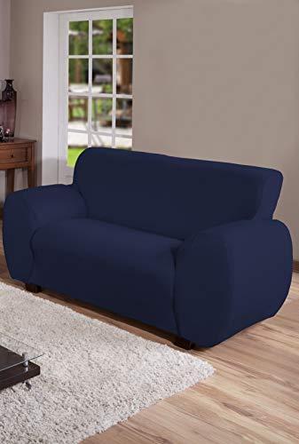 Capa Para Sofa 2 Lug Malha Gel Arte Cazza Marinho
