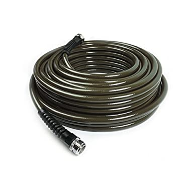 Water Right 400 Series Polyurethane Slim & Light Drinking Water Safe Garden Hose, 50-Foot x 7/16-Inch, Brass Fittings, Olive Green, USA Made