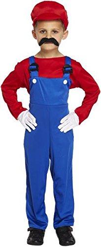 Super Workman Fancy Dress Costume, Red - Medium (7-9) by hembrandt