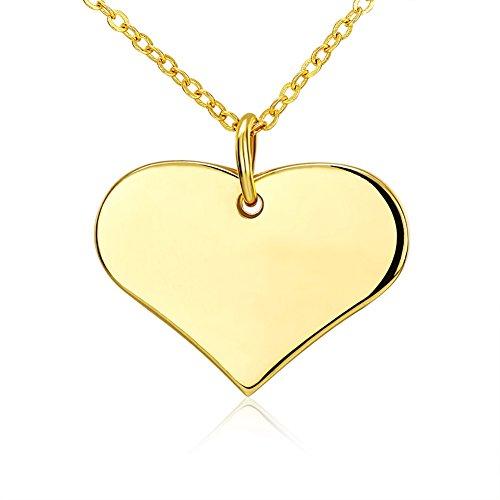 Styleziel dameshalsketting 18k verguld goud hart als hanger 50cm 2161