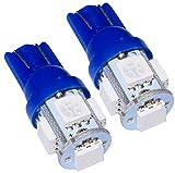 AERZETIX: Jeu de 2 ampoules T10 W5W 12V à 5 LED SMD (Bleu)