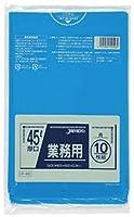 厚口業務用45L 10枚入04LLD青 P46 【まとめ買い(40袋×5ケース)合計200袋セット】 38-297