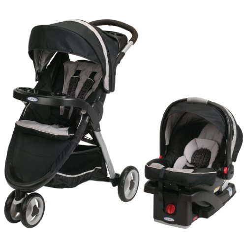 2014 Graco FastAction Fold Sport Stroller Click Connect Travel System, Pierce