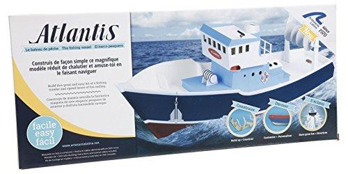 Maqueta de Barco en Madera c. y navega: Pesquero de Arrastre Atlantis