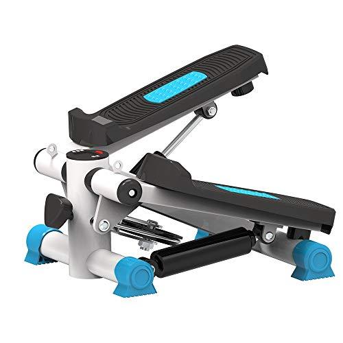ZIEO Paso a Paso El Ejercicio aeróbico máquina de Fitness for Mini Rueda de Ardilla exhibición de múltiples Funciones Steppers (Color : Blue, Size : One Size)