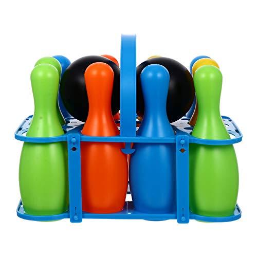 BESPORTBLE Kinder Bowling Set Kegelspiel Spiele Pädagogische Familien Interaktive Spielzeug mit 12 Kegel 2 Bälle Geschenke für Kinder Garten Rasen Draußen Drinnen Spiel Geschenke